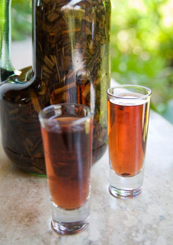 Dominican Mamajuana with shot glass