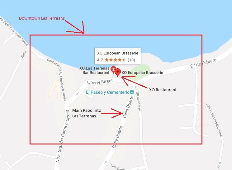XO Restaurant Location