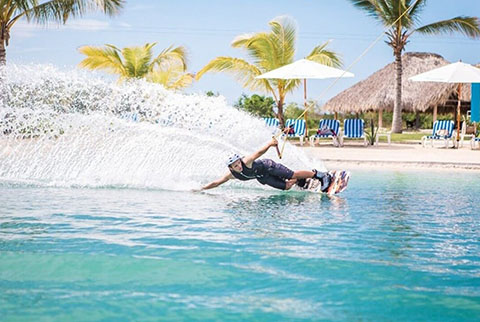 Man Wakeboarding at Aquatic Adventures